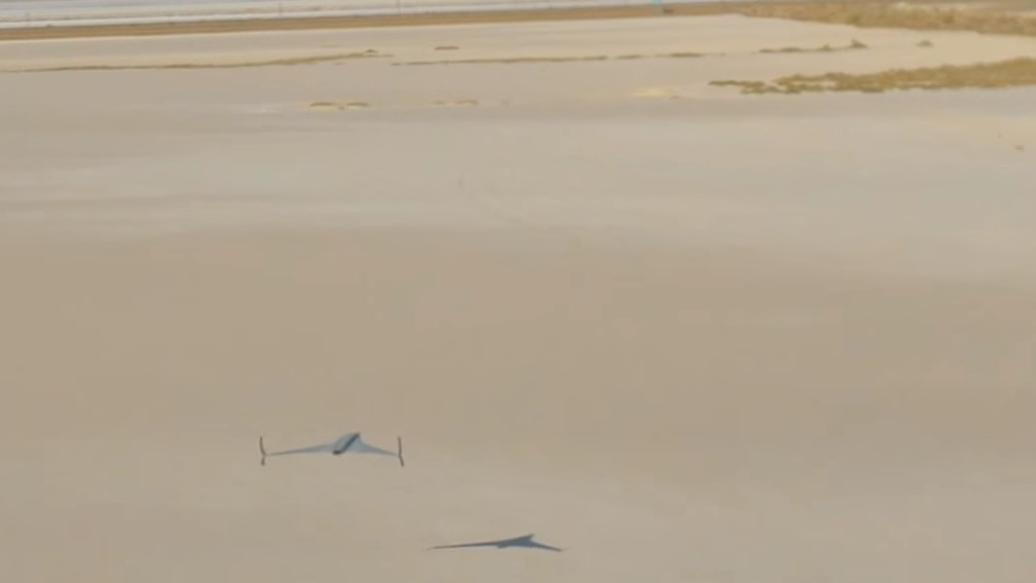Den nye dronen har en fart på 240 kilometer i timen. Foto: Stratasys/YouTube