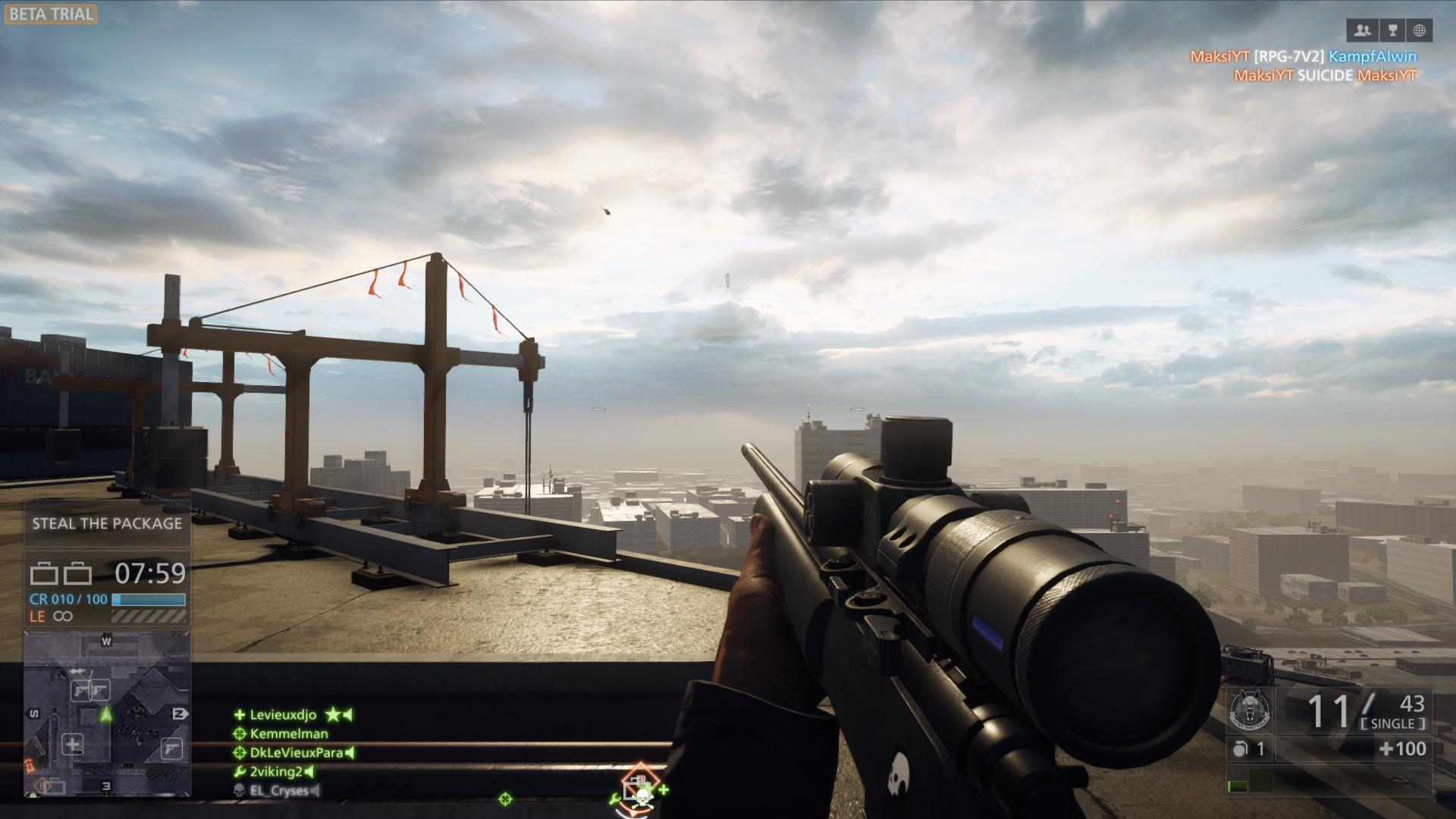 Fjase rundt på takene med en skikkelig rifle er det gode muligheter for.