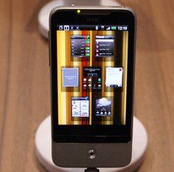 HTC Legend med siste utgave av Googles operativsystem Android (2.1).