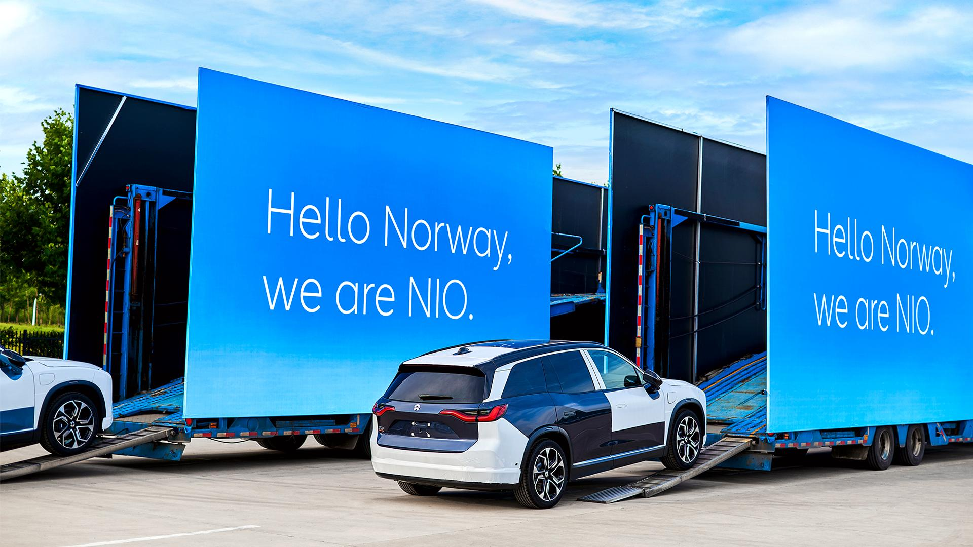 Den første lasten med ES8 satte kurs mot Norge i slutten av juli.