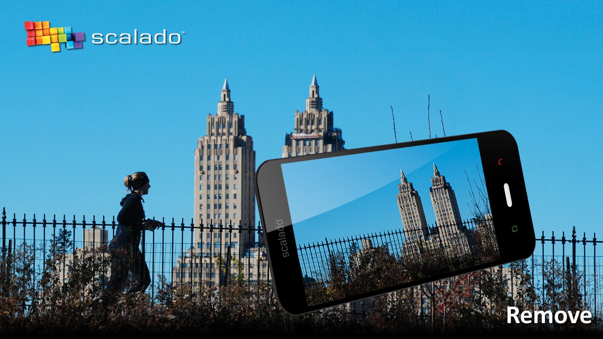 Scalado Remove-appen tar flere bilder etter hverandre for å kunne identifisere hva som ikke hører hjemme i motivet. (Foto: Scalado)