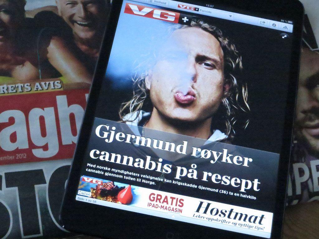 Å bytte til iPad mini er nesten som å gå fra gammelt avisformat til tabloid.Foto: Espen Irwing Swang, Amobil.no