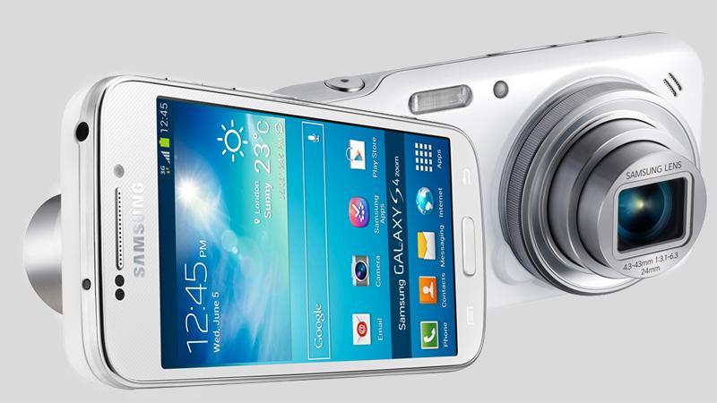 Samsung Galaxy S4 Zoom kommer med 4G. Foto: Samsung / montasje