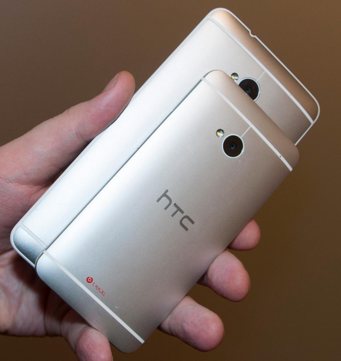 HTCs design fungerer svært godt på originalen, men elendig på One Max. Den blir rett og slett for stor til å dele det superglatte aluminiumsmaterialet fra One.Foto: Finn Jarle Kvalheim, Amobil.no