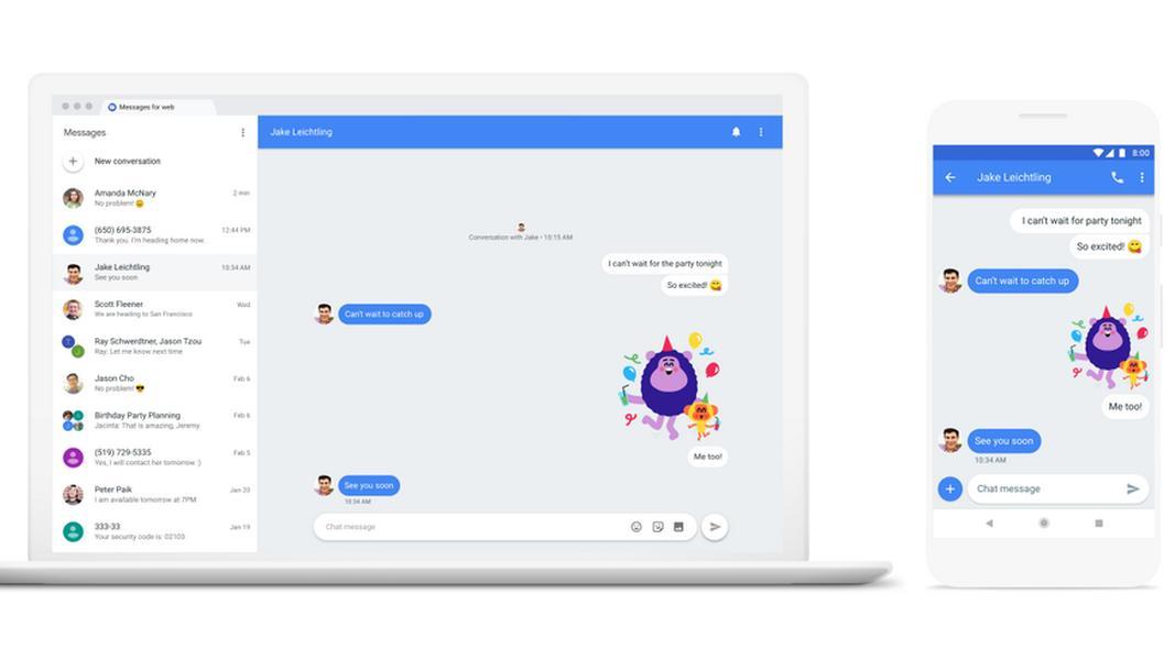 Nå kan du sende Android-tekstmeldinger på PC-en