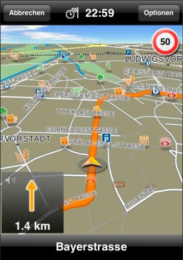 Navigon har delikate og oversiktlige kart.