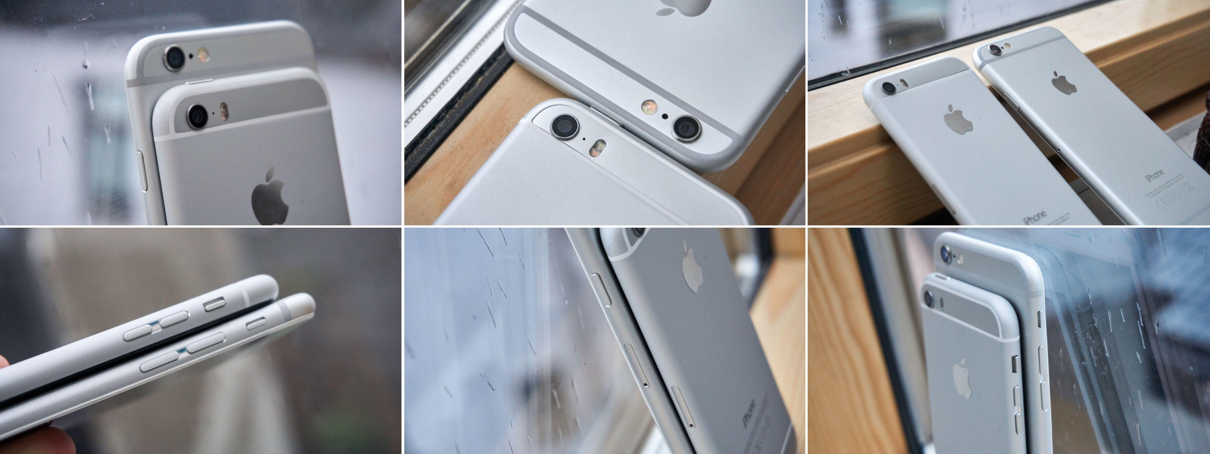 Den lille iPhonen sammenlignet med en iPhone 6.