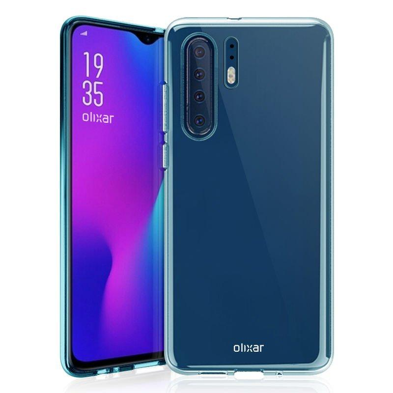 Slik ser bildene som skal vise dekslene for Huawei P30 fra Olixar ut.
