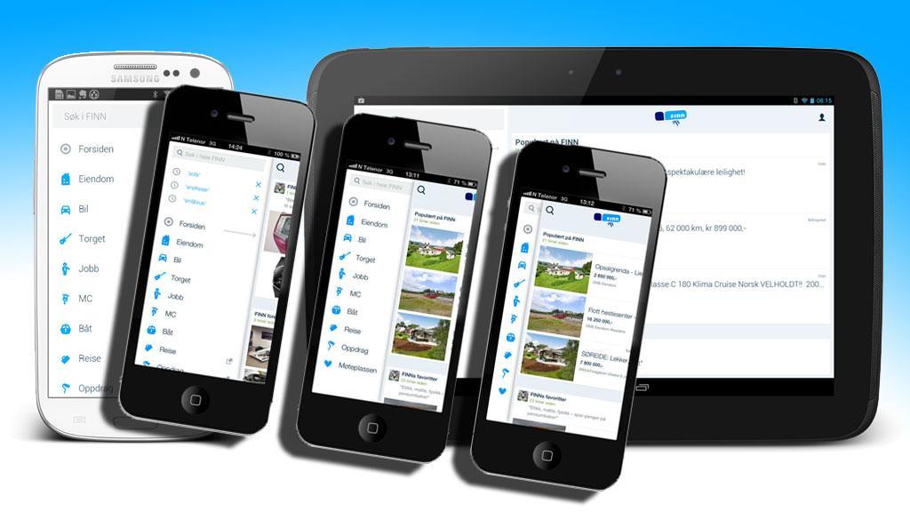 Vurder om du vil satse på app eller mobilside.Foto: FINN.no/montasje V. Haugen, Mobilen.no