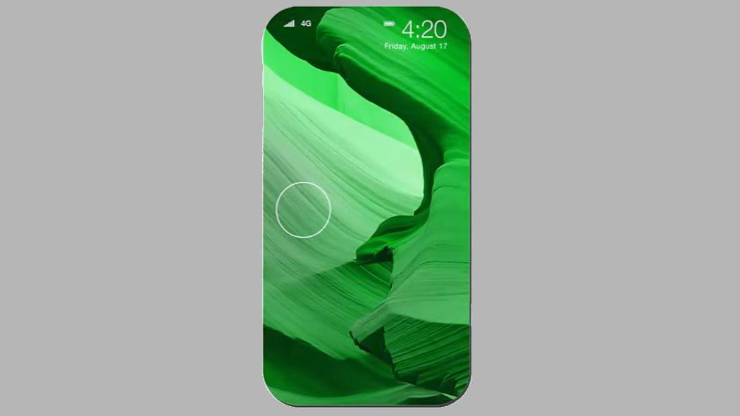 «iPhone X» får trolig fullstendig heldekkende OLED-skjerm og ansiktsgjenkjenning. Dette illustrasjonsbildet er et konseptbilde av en annen mobilmodell. Bilde: YouTube