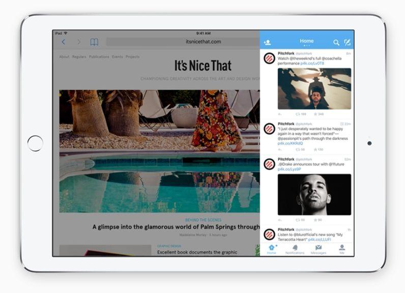 Med Slide kan du trekke apper inn fra siden og skyve dem bort igjen når du har brukt dem. (Foto: Apple)