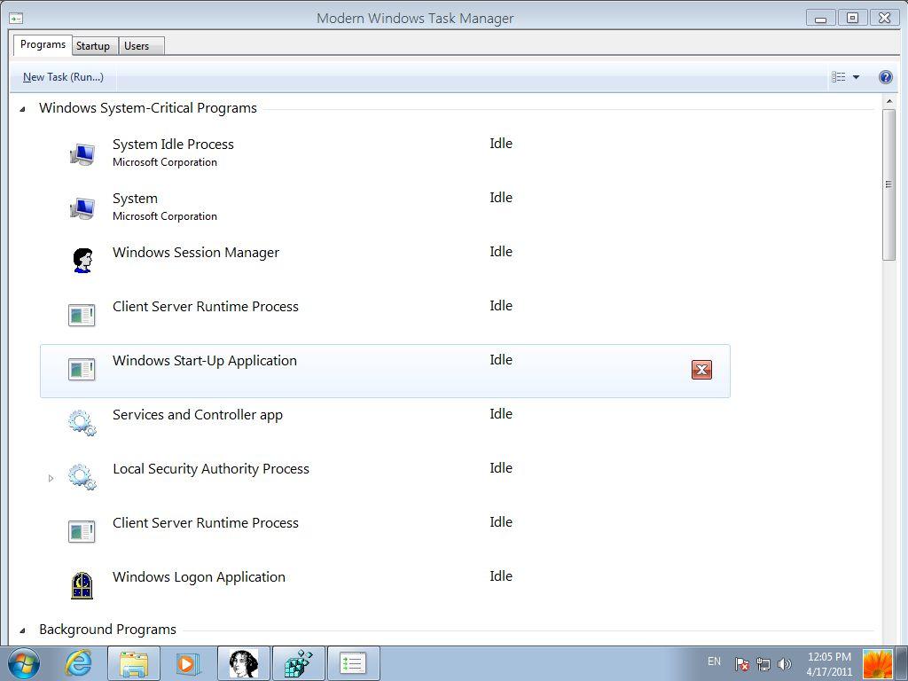 Tidligere lekket skjermbilde av Windows 8 Center