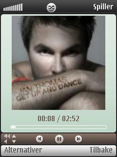 Musikkavspilleren kan vise albumomslag.