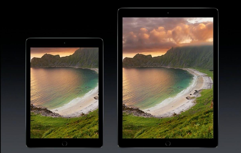 Slik ser iPad Pro sammenlignet med iPad Air 2.