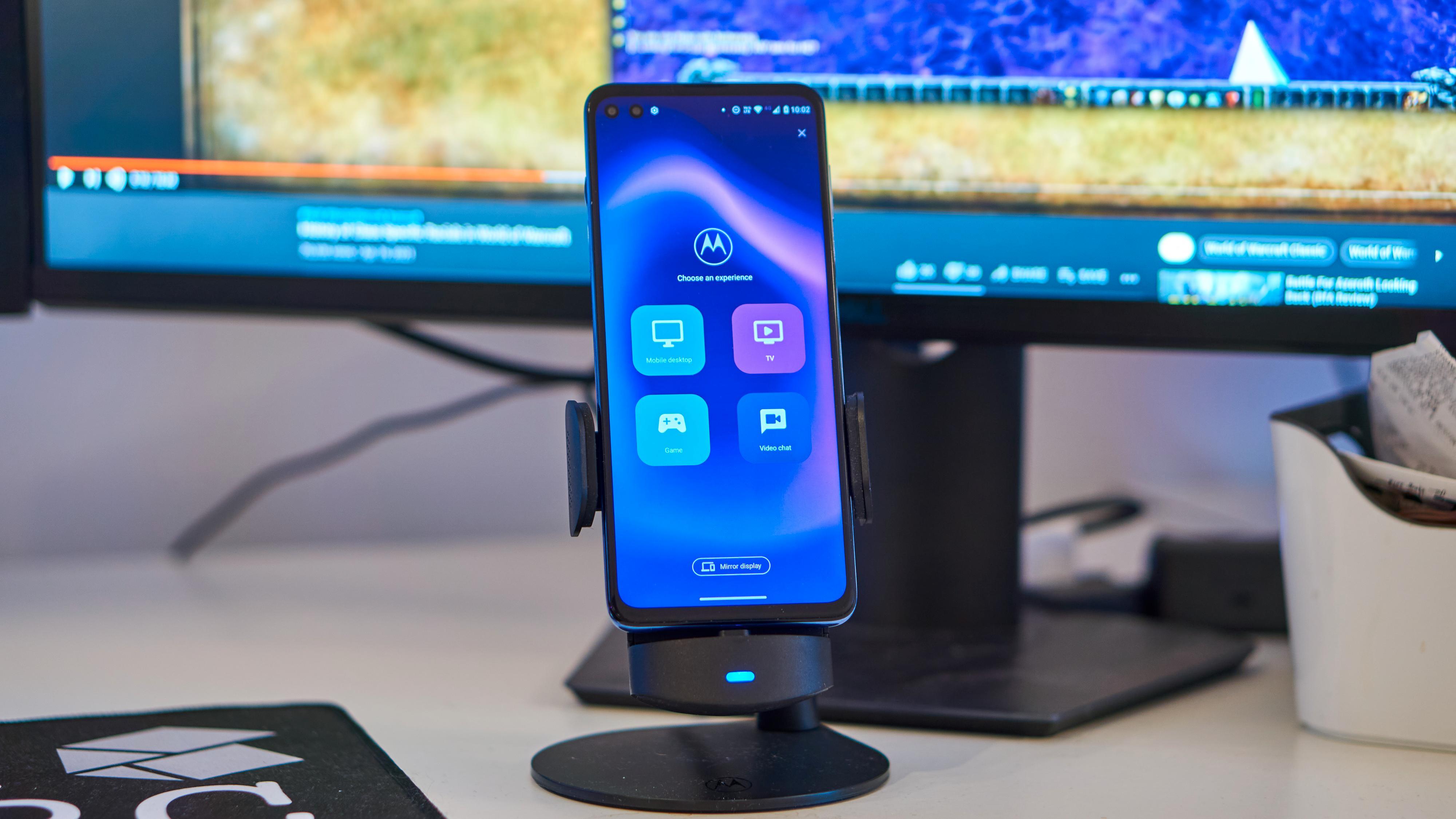 Slik ser valgene ut når du kobler telefonen opp mot en skjerm.
