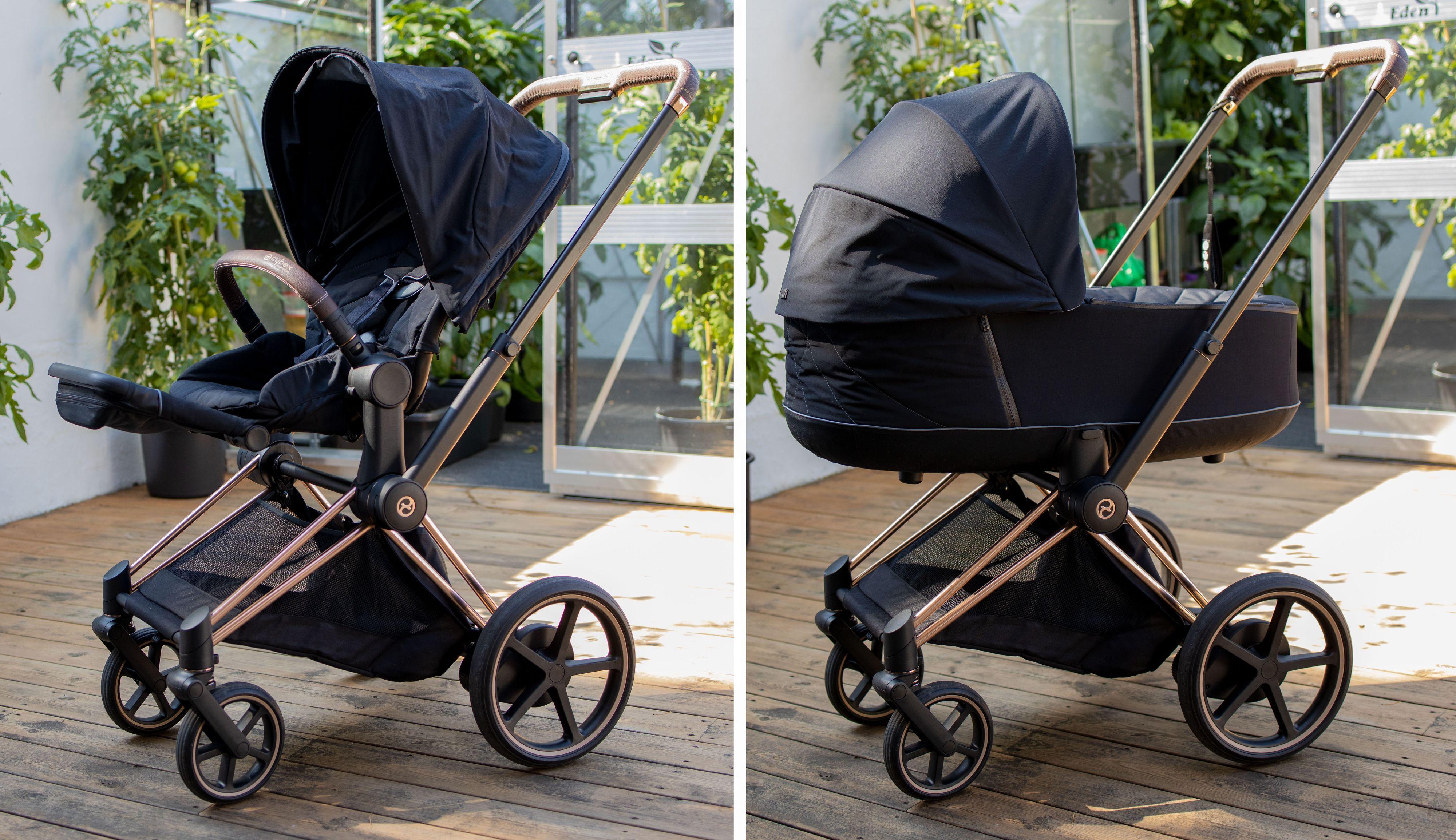 Sittedelen skal være tilpasset barn fra seks måneder og eldre, og kan brukes helt til barnet veier 17 kilogram. Det vil si i 4–5 år. Man kan også sette på bilsete på vognen med små adaptere. Det følger med adapter som passer Cybex-bilseter, mens andre bilseter krever andre adaptere.