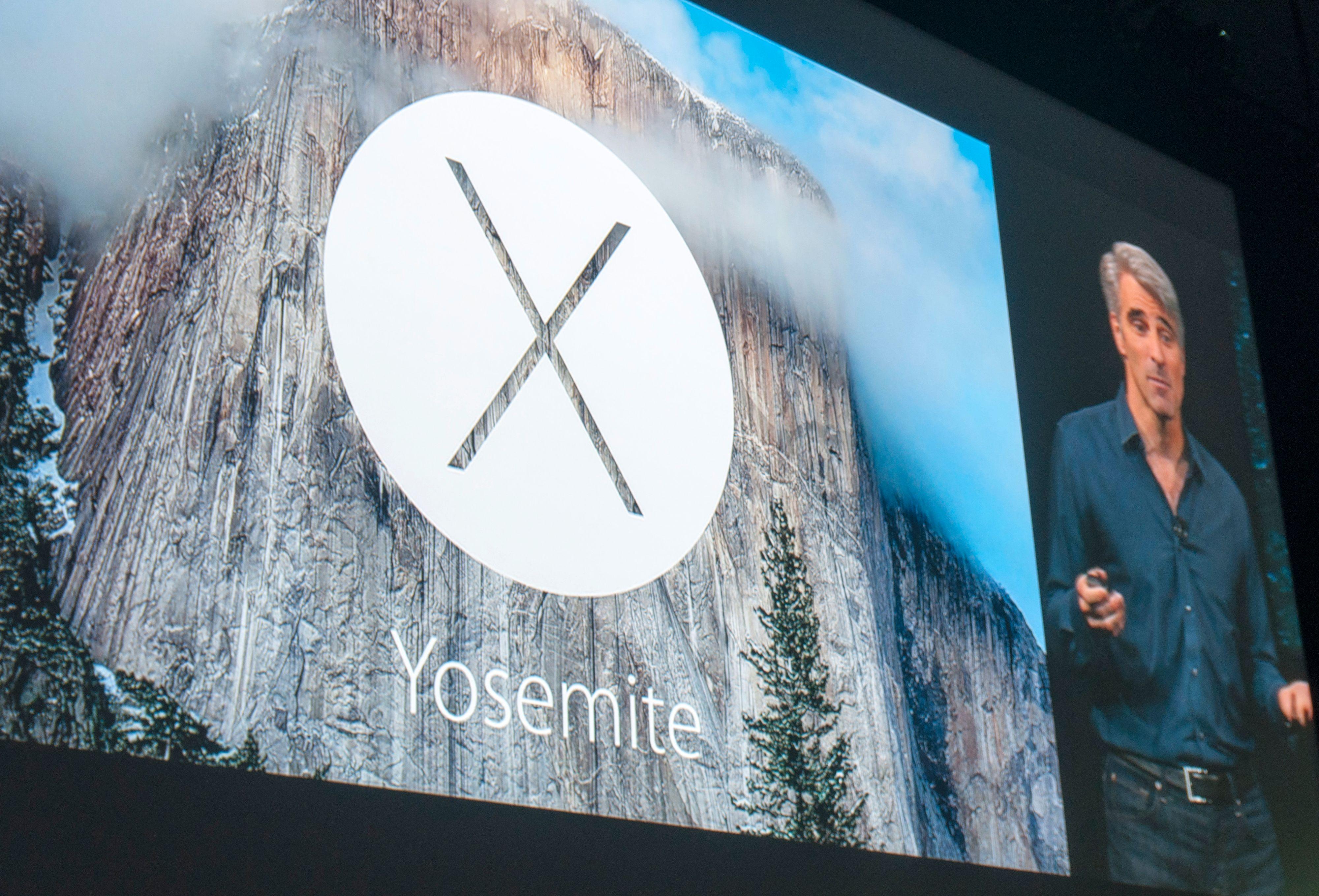 Yosemite-logoen på skjermen.Foto: Finn Jarle Kvalheim, Tek.no
