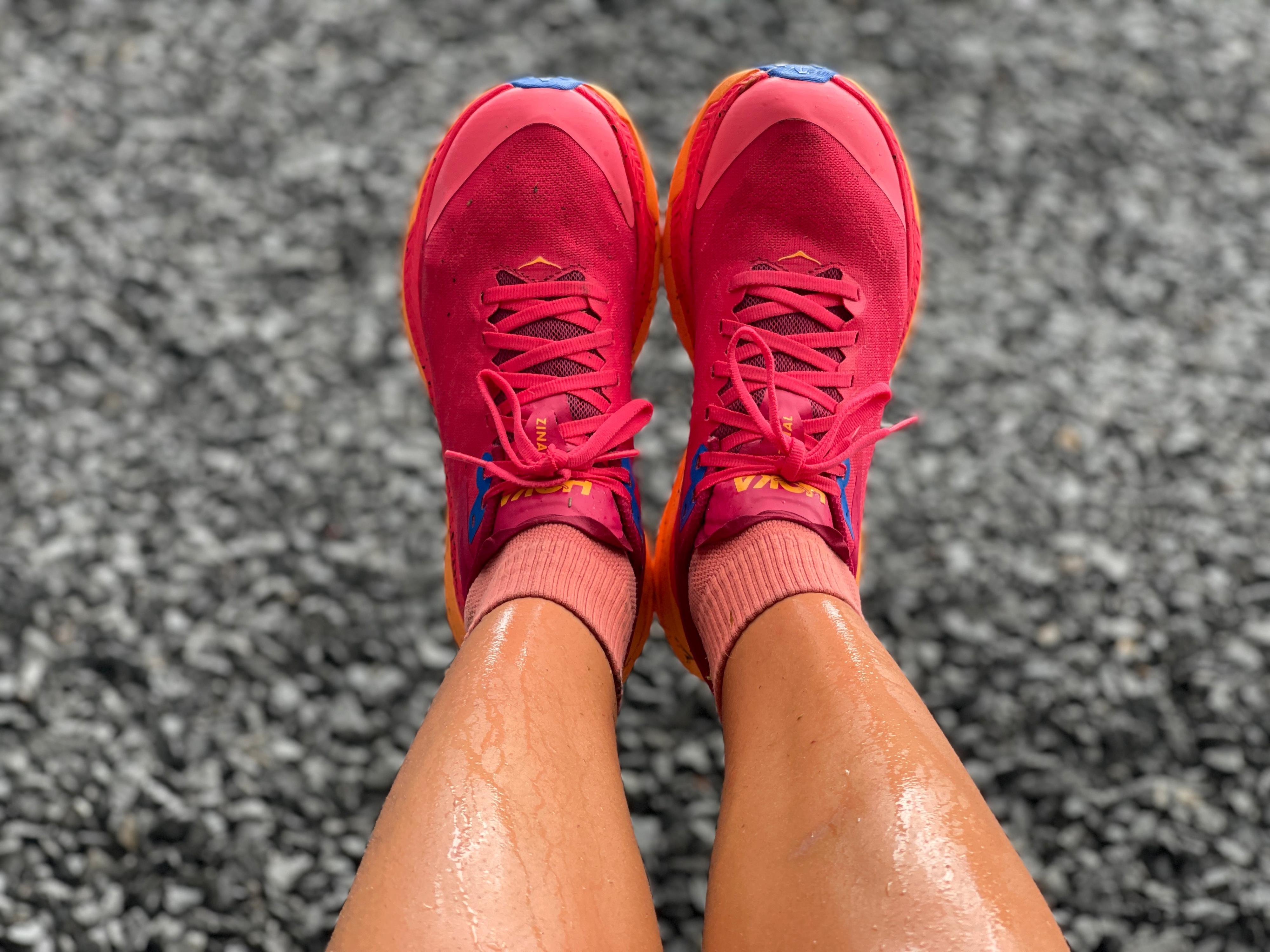 TÅLER MYE: Tåforsterkeren tar unna for mye, men i nedoverbakke føles disse skoene litt for glatte under på yttersålen og tar ikke grepet helt slik vi hadde håpet.