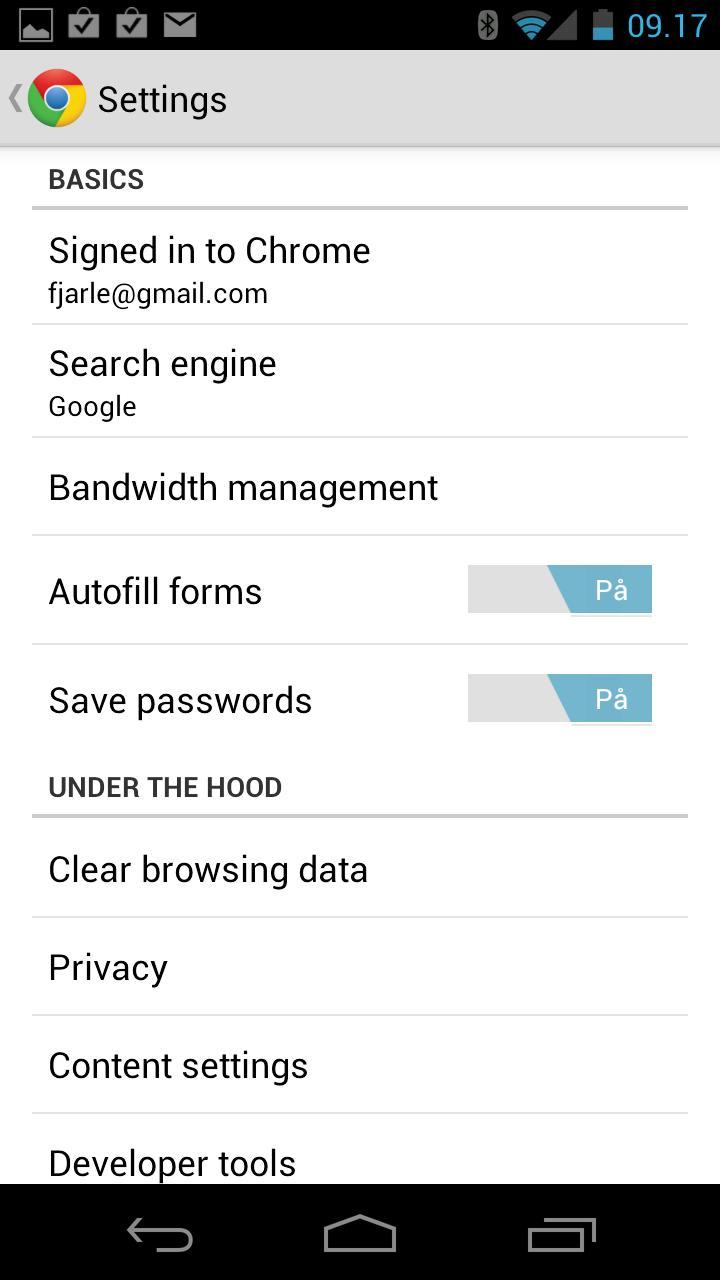 Hvis du vil kan du styre mange av Chromes funksjoner selv.