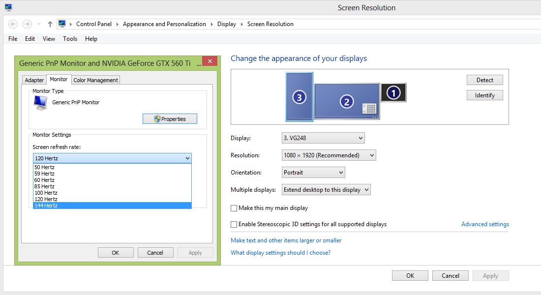 Slik tar du på ekstra rask oppdateringsfrekvens, om skjermen støtter dette.