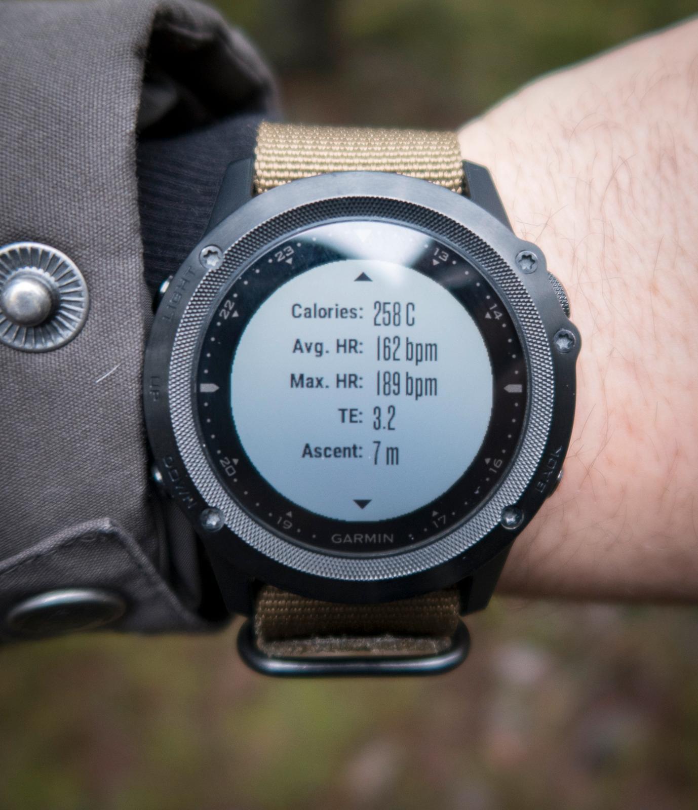 Etter endt aktivitet får vi en liten rapport på klokka, med blant annet treningseffekten («TE.), som hjelper oss med å trene passelig hardt.