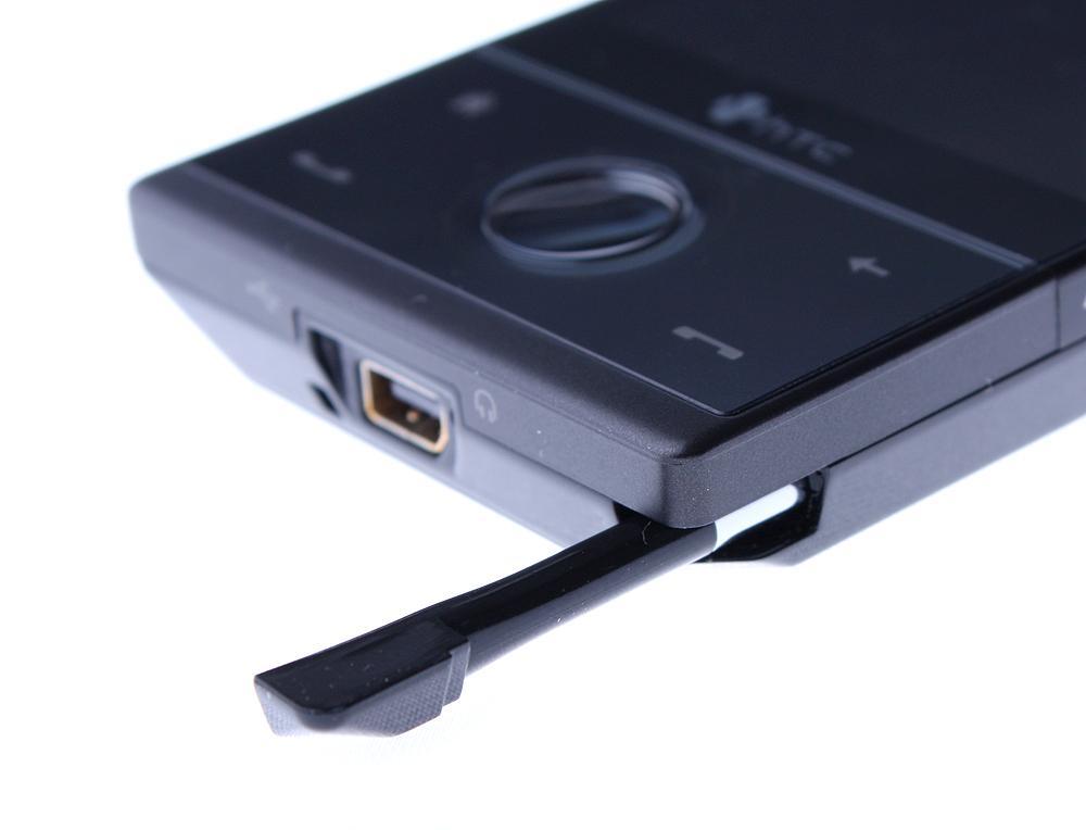 Pekepennen er gjemt inni telefonen.