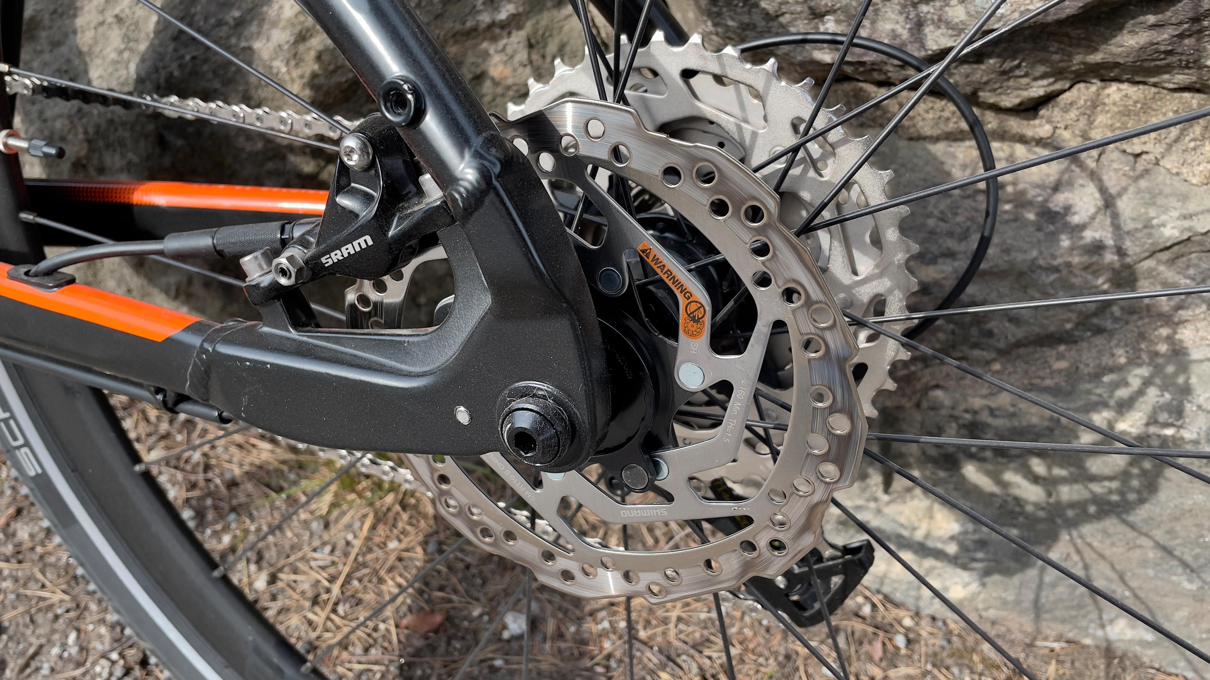 Bremsene på sykkelen er det lite å utsette på.