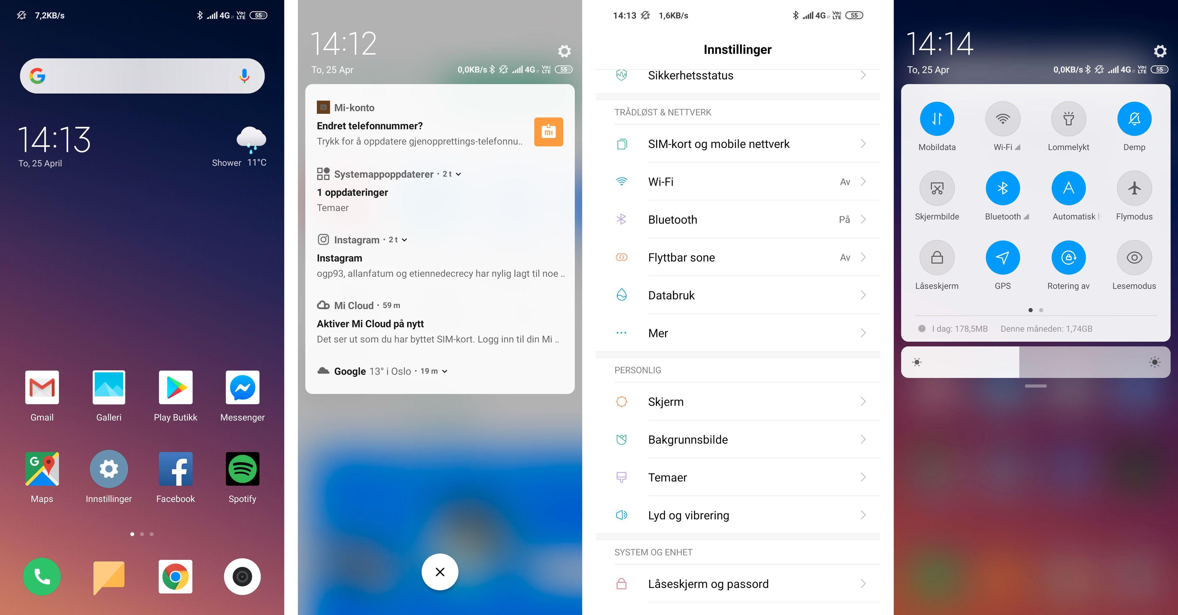 MIUI-menyene er de samme som du finner på Xiaomi-telefoner flest. De er raske og har mange fine funksjoner. Men vi hadde nok satt enda større pris på en Redmi Note 7 med Android One-stempel på ryggen og helt rene Google-menyer.