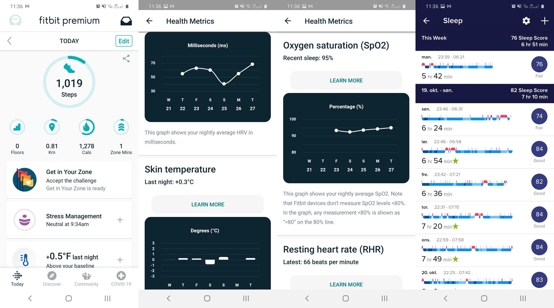 Appen til Fitbit gir deg mye informasjon. Men EKG må du fortsatt vente litt på.