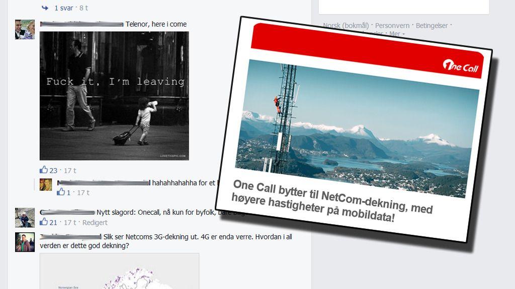 One Call-kunder tvinges over til NetComs nett