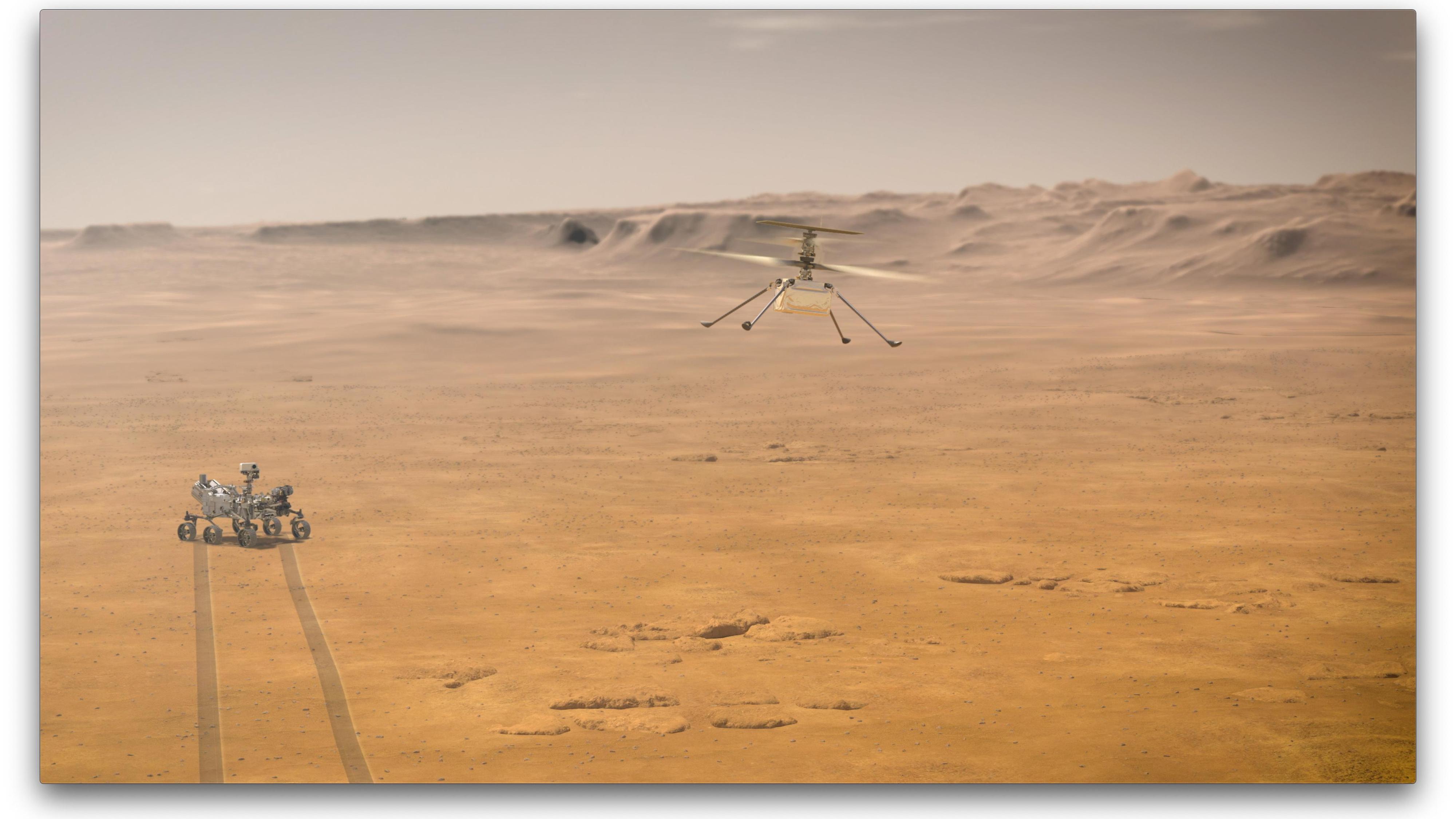 Ble historisk: Den aller første flyvningen på en annen planet