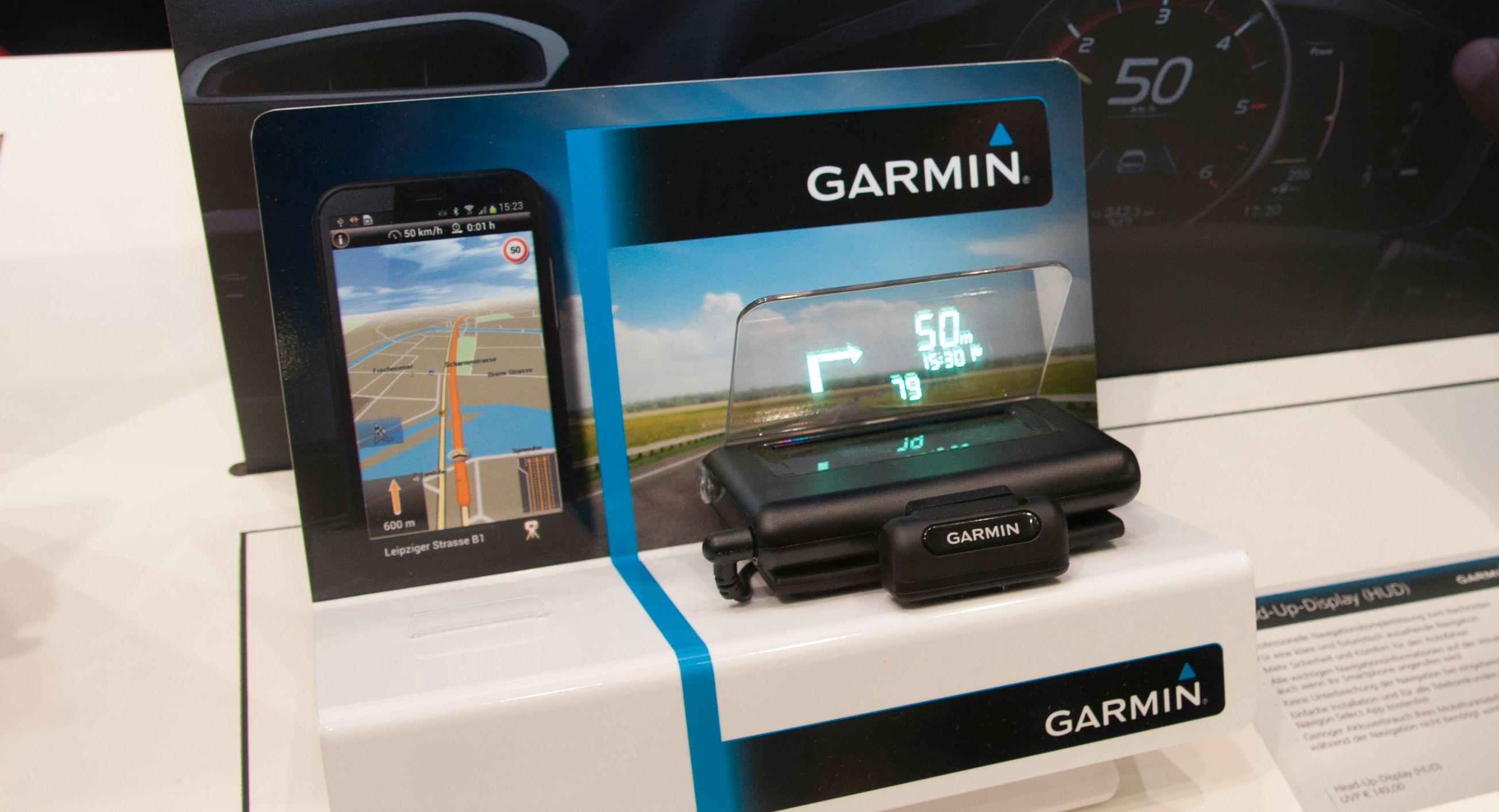 Garmin Heads-up-display: Garmin bruker vinduet ditt som skjerm.Foto: Finn Jarle Kvalheim, Amobil.no