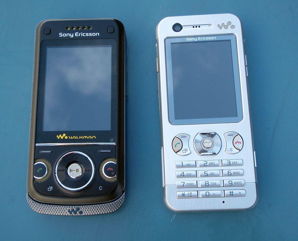 W760i sammenlignet med en annen Walkman-telefon, den tynne W890i.