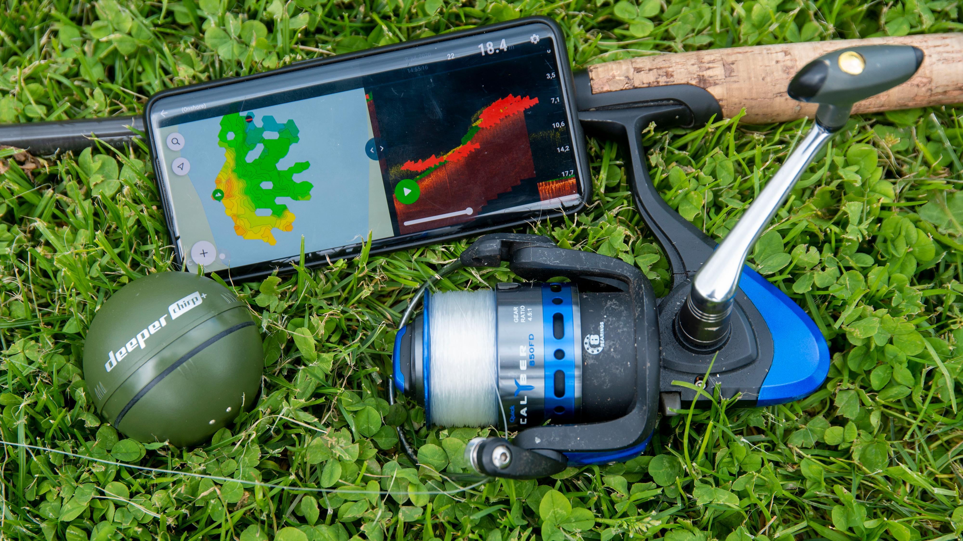 Deeper Smart Sonar Chirp+ er enkel å koble til mobilen. Og vips, så er du i gang.