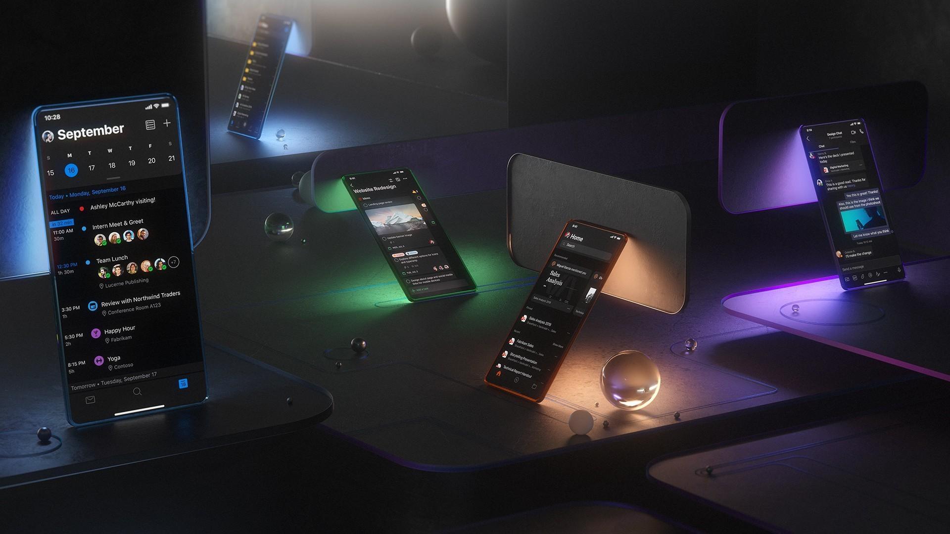 Outlook for mobiler er først ut av appene som får mørk modus.