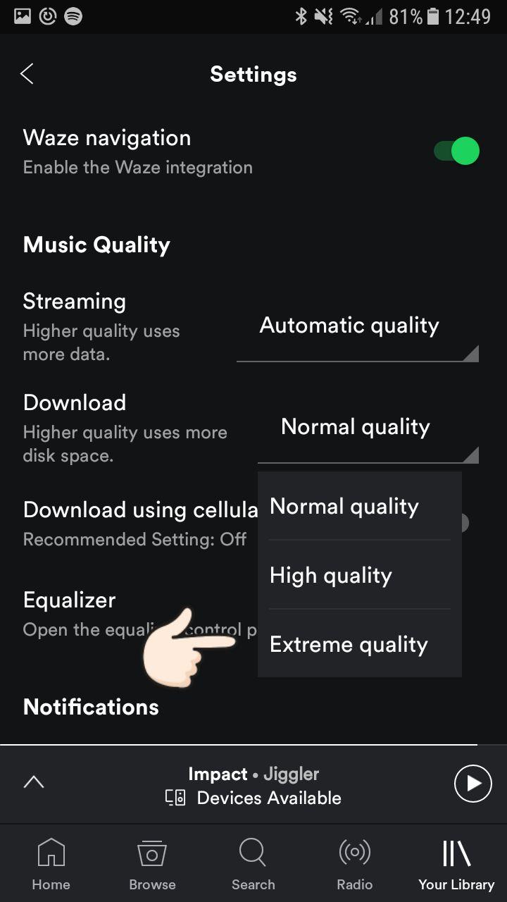 Velg den beste kvaliteten.