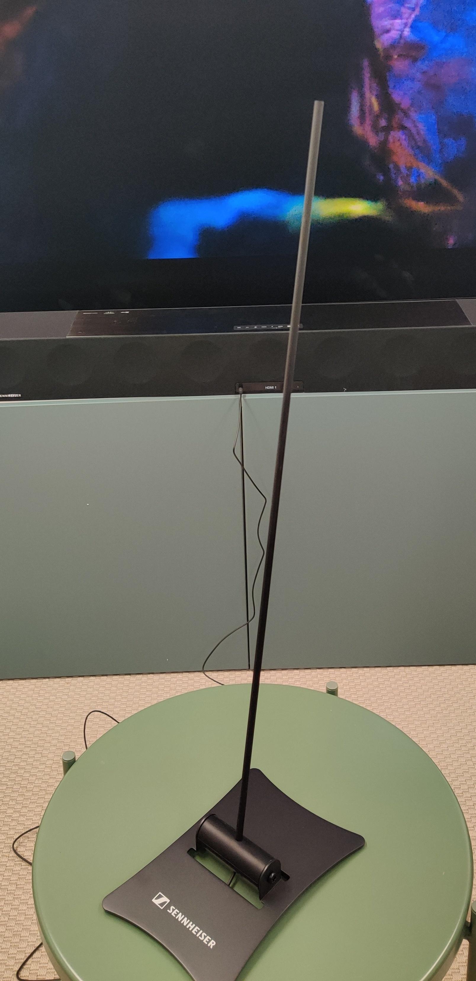 Denne mikrofonen bruker du til å justere klangen i lydplanken