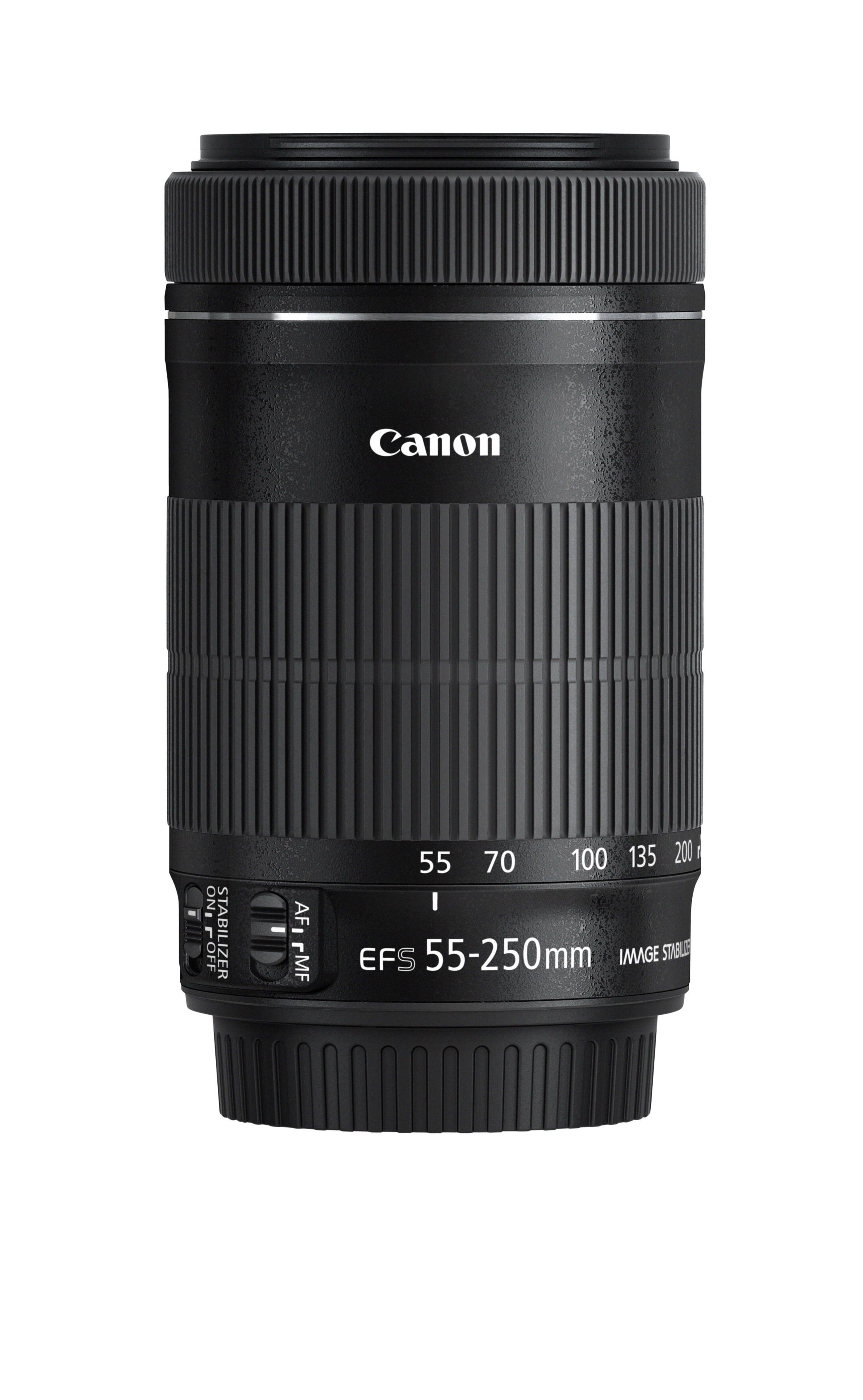 Ny og lettere design på EF-S 55-250mm f/4-5.6 IS STM.Foto: Canon