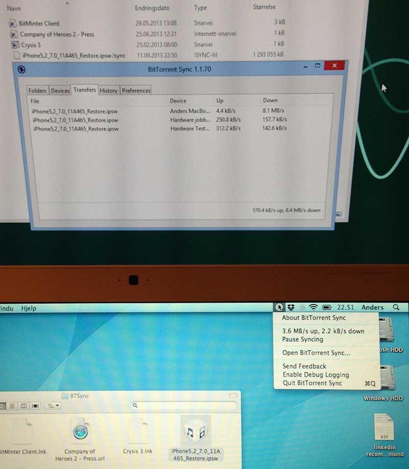 Gode hastigheter over lokalnettet hjemme – med litt hjelp fra to andre tilkoblede maskiner via Hardware-kontoret.