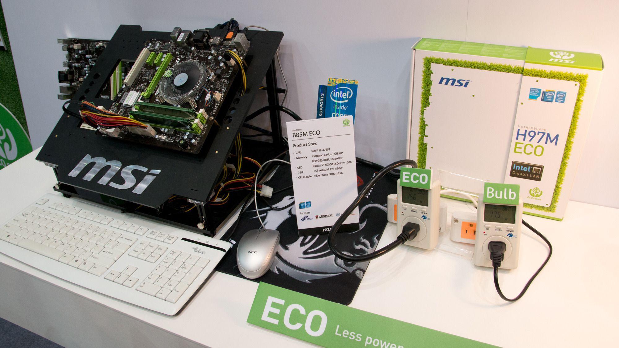 MSIs testsystem.Foto: Rolf B. Wegner, Hardware.no