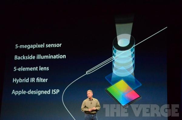 Optikken i kameraet i den nye iPad-en skal være den samme som i iPhone 4S, men oppløsningen er på 5 megapiksler – mot 8 på iPhone. (Bildekreditt: The Verge)