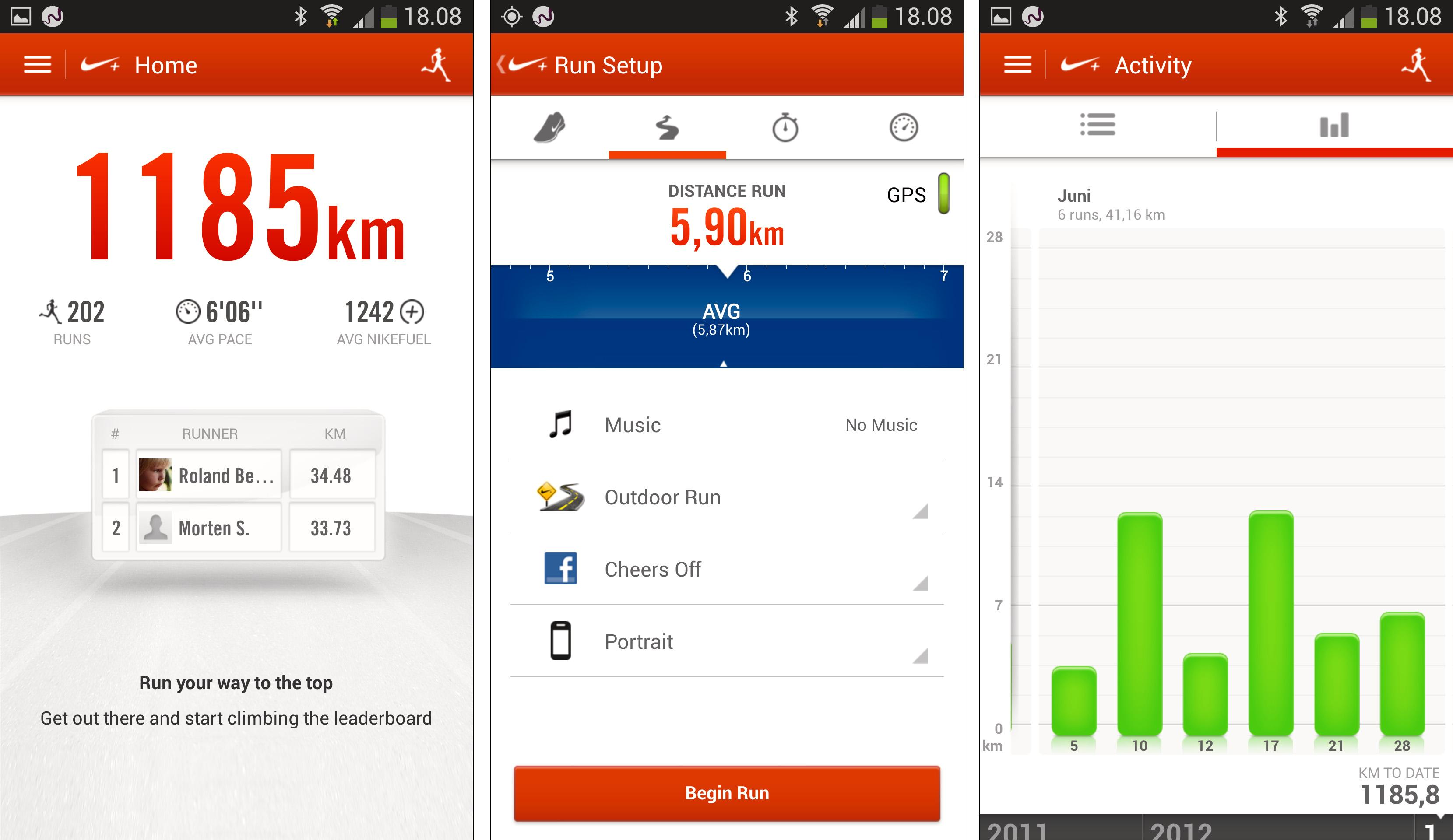 Nike+ Running for Android.