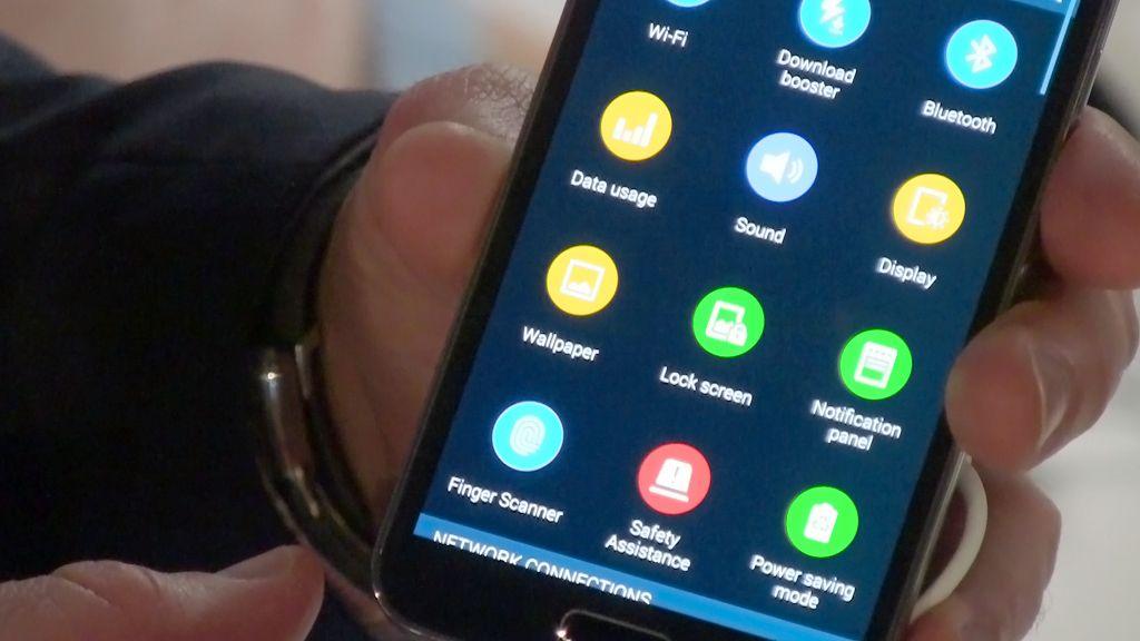 Det ser ut til at Samsung og Nokia har brukt de samme ikonografene.Foto: Espen Irwing Swang, Amobil.no