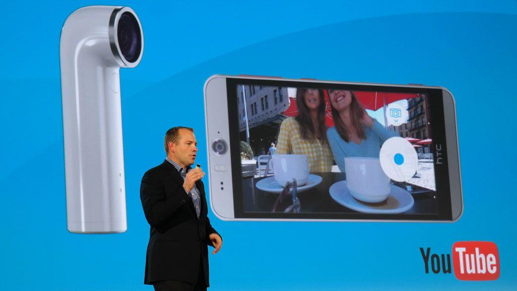 Fra nå av vil det komme mange nye produkt-typer fra HTC. Først ute er Wi-Fi-kameraet RE. Foto: Espen Irwing Swang, Tek.no