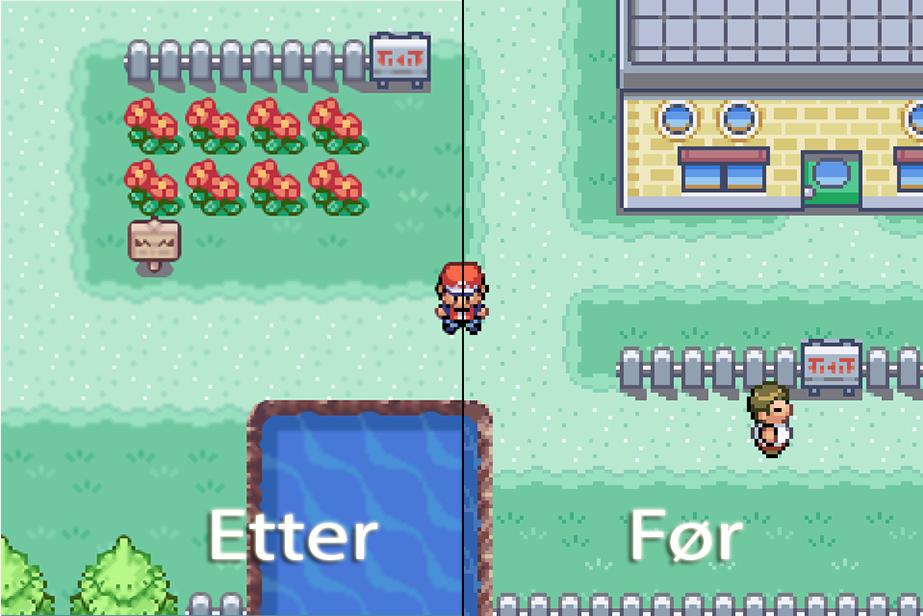 De røffe kantene er borte vekk i Pokemon Leaf Green.Foto: Nintendo, Hardware.no