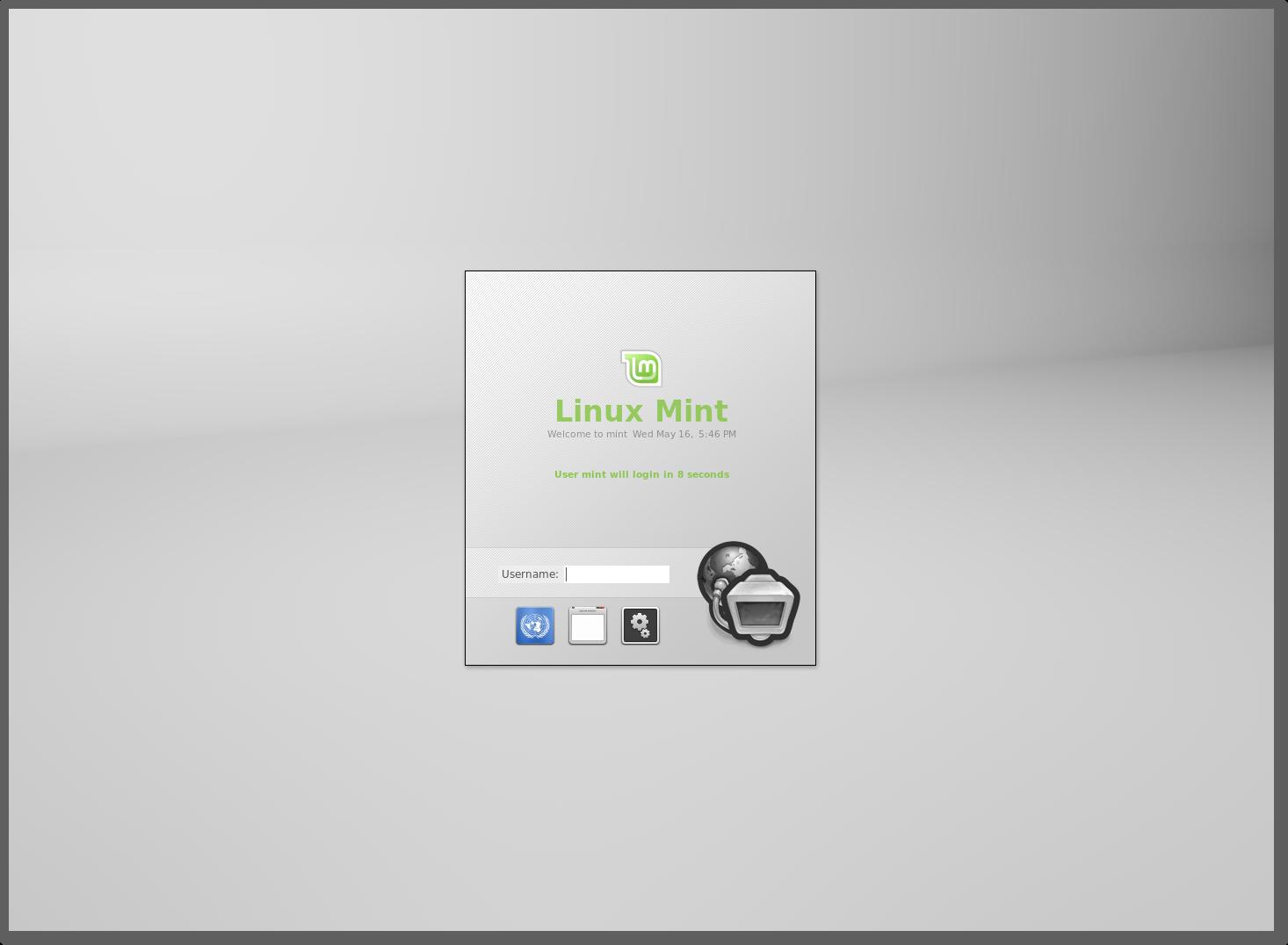 MDM er en av de nye funksjonene i Linux Mint.