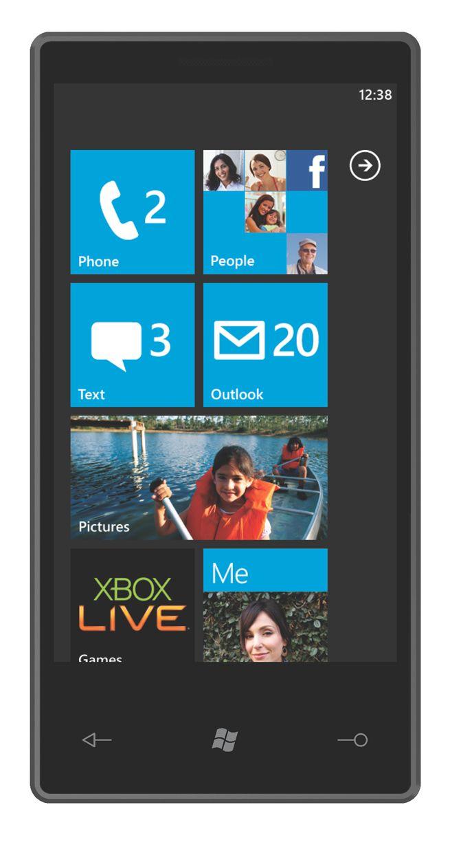 Menyene er i stor grad basert på menyene i musikkspilleren Microsoft Zune.