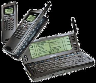 Nokia 9110 Communicator. Den siste av Communciator-modellene med GEOS og x86-prosessor.