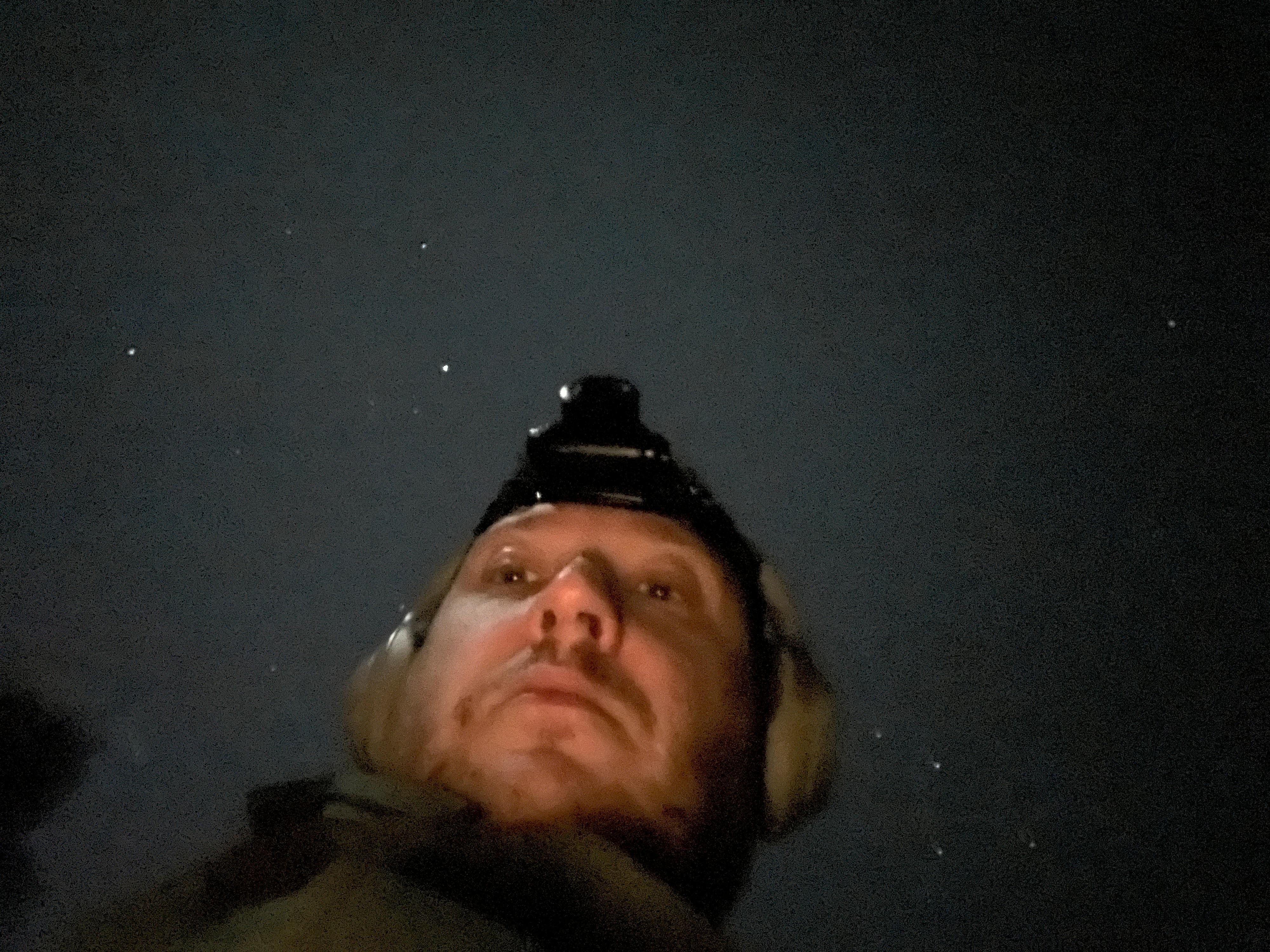 Selfie i månelys.