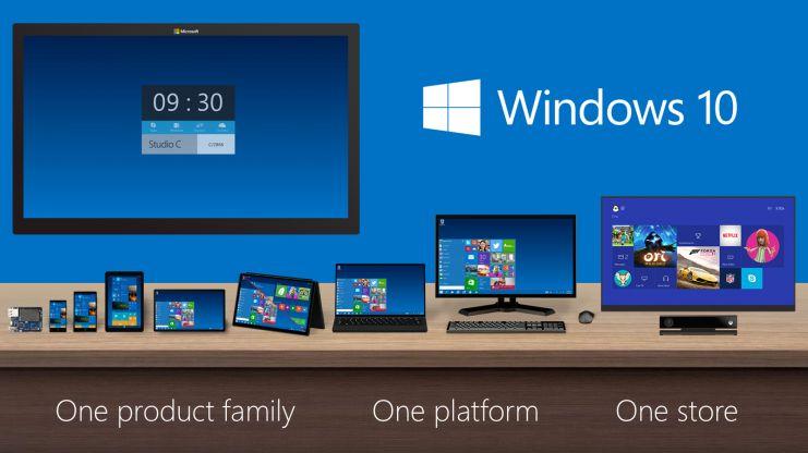 Windows 10 bryr seg ikke om størrelse - det er samme operativsystem over alt. .